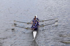 Washington races in the Head of Charles Regatta Mens's Championship Fours Royalty Free Stock Image