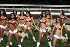 Washington Redskins Cheerleaders Royalty Free Stock Photography