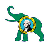 Washington Republican Elephant Flag Foto de archivo