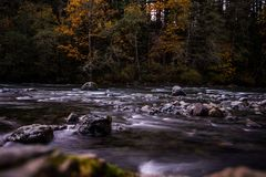 Washington River, curvatura del nord, Washington Immagine Stock