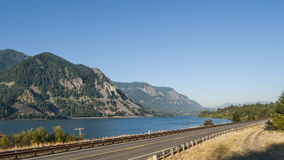Washington Route 14 in Columbia River Gorge Stock Images