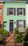 Washington Row House Home Italianate Style Fence Stock Photography