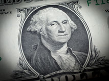 Washington's face on a dollar bill Royalty Free Stock Images