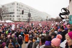 Washington, S 21 gennaio 2017 ` S marzo delle donne su Washington Immagini Stock