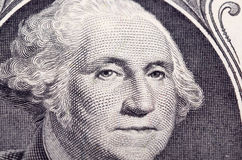 Washington's portrait clous up Royalty Free Stock Photo