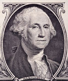 Washington's portrait clous up Royalty Free Stock Photography
