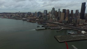 Washington Seattle aéreo almacen de video