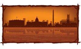 Washington-Skyline Lizenzfreies Stockbild