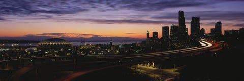 Washington skyline at sunset Royalty Free Stock Photography