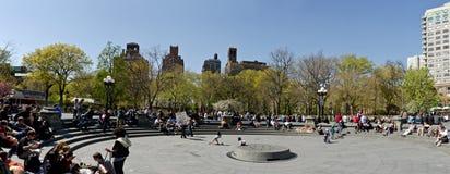 Washington Square. New York City Washington Square panoramic view Stock Image