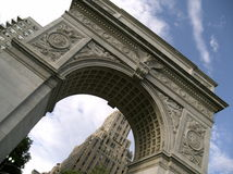 Washington Square. Park Archway in New York Stock Photography