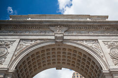Washington Square Arch in New York Stock Photo