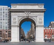 Washington Square Manhattan Landmarks New York stad USA royaltyfri foto