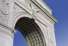 Washington Square Monument New York USA. Washington Square Arch, in the New York University area of Greenwich Village, Manhattan, New York royalty free stock photo