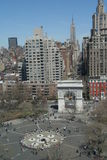 Washington Square New York. Top view of Washington Square and the 5th avenue Stock Photos