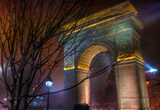 Washington Square Park Arch HDR Royalty Free Stock Photography