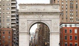 Washington Square Park Archs in Manhattan, New York City. Washington Square Park Arch and historic buildings in Manhattan, New York City NYC Stock Image