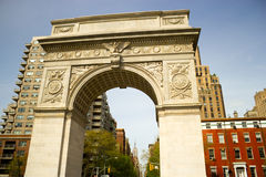 Washington Square Park Arch, New York Stock Photo
