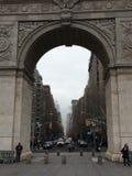 Washington Square Park båge royaltyfria bilder