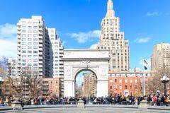 Washington Square Park est un parc de 9,75 acres situé dans le Greenwich Village et est une tache de réunion populaire parc de 75 Photographie stock libre de droits