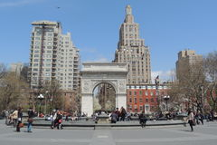 Washington Square Park in New York City Stock Photo