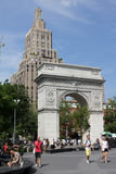 Washington Square Park, Manhattan. Washington Square Park is a popular gathering spot for New Yorkers on warm summer days Stock Photo
