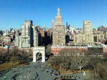 Washington Square Park - New York City. Aerial view of Washington Square Park looking North unto Midtown Manhattan of New York City Royalty Free Stock Photography