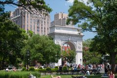 Washington square park Stock Photography