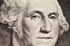 Washington stående på dollar arkivbild