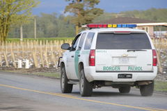 Washington State Border Patrol. A border patrol vehicle on the Washington and British Columbia border Stock Photography