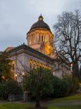 Washington State Capitol al crepuscolo Fotografie Stock