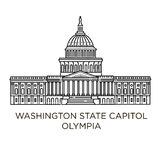 Washington State Capitol in Olympia, Verenigde Staten stock illustratie