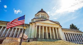 Washington State Capitol Olympics Seattle Washington royaltyfria foton