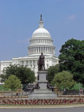 Washington State Capitol with statue of James Carfield in Washington D.C., 2008 Stock Photo