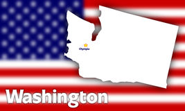 Washington state contour Royalty Free Stock Photo