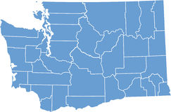 Washington State by counties Royalty Free Stock Photography