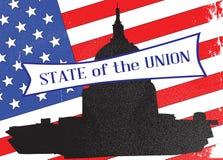 Washington State de la unión con las barras y estrellas stock de ilustración