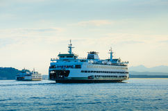 Washington State Ferries. Sail from Seattle to Bainbridge and Bremerton Royalty Free Stock Images