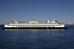 Washington State Ferry Boat Mt Baker Background Royalty Free Stock Image