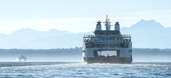 Free Washington State Ferry, Chimakum Heading Across Puget Sound Stock Photography - 103736642
