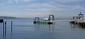 Washington State Ferry leaving Royalty Free Stock Image