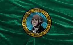 Washington State Flag de l'ondulation de l'Amérique Images stock