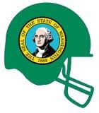 Washington State Flag Football Helmet Imágenes de archivo libres de regalías