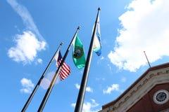 Washington State Flags stock images