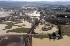 Washington State Flood Royalty Free Stock Images