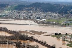 Washington State Flood imagenes de archivo