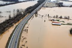Washington State Flood Stockbilder