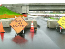 Washington State Flooding 1. Roads near the Skagit River are closed due to major flooding stock photography