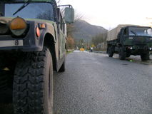 Washington State Flooding - National Guard Called Up. The Washington state National Guard has been deployed to assist in disaster relief in Western Washington royalty free stock photos