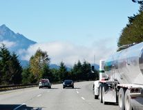 Washington state fog on the roads Royalty Free Stock Image